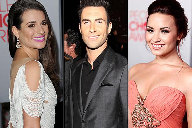 Lea Michele Adam Levine Demi Lovato