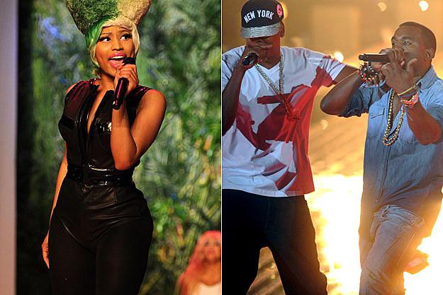 Nicki Minaj Jay-Z Kanye West