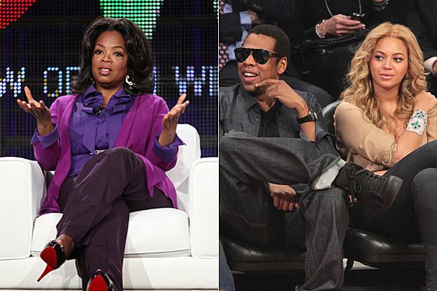 Oprah, Jay-Z, Beyonce