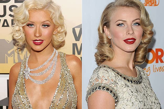 Christina Aguilera Julianne Hough