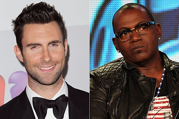 Adam Levine and Randy Jackson