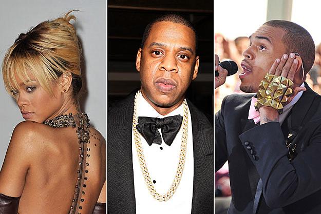 Rihanna, Jay-Z, and Chris Brown
