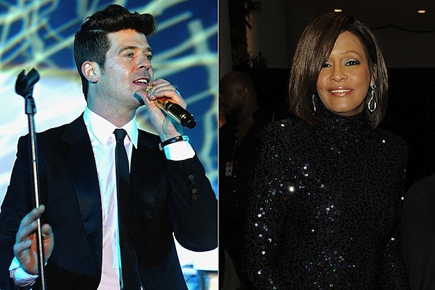 Robin Thicke Whitney Houston