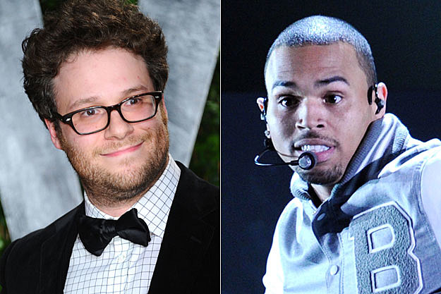 Seth Rogen and Chris Brown