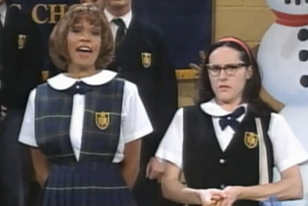Whitney Houston and Molly Shannon on 'Saturday Night Live'