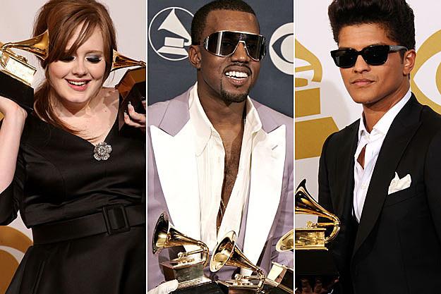 Adele Kanye West Bruno Mars