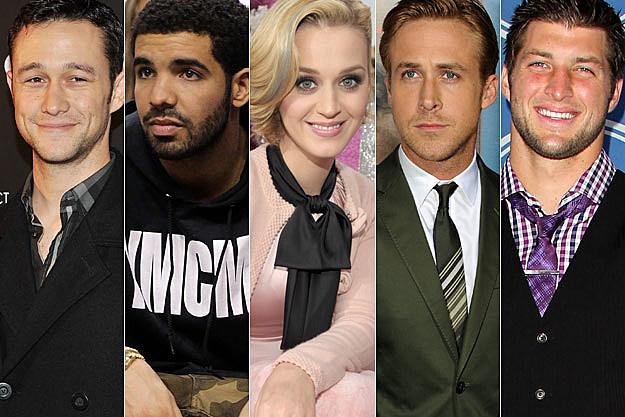 Joseph Gordon Levitt Drake Katy Perry Ryan Gosling Tim Tebow