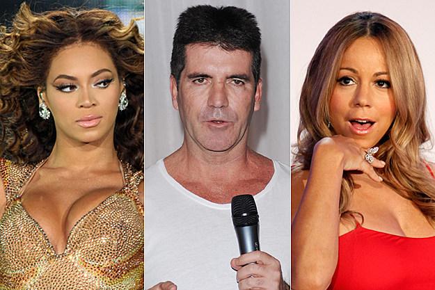 Beyonce, Simon Cowell, Mariah Carey