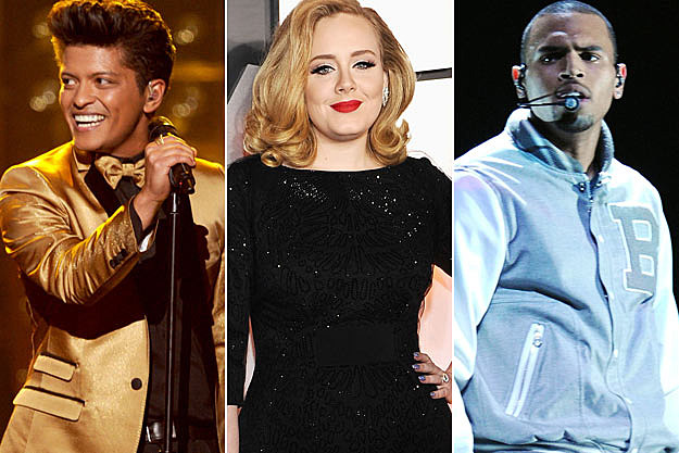 Bruno Mars Adele Chris Brown