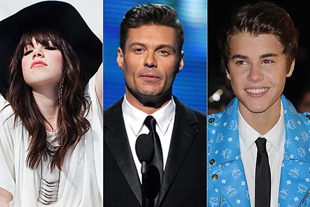 Carly Rae Jepsen, Ryan Seacrest, Justin Bieber