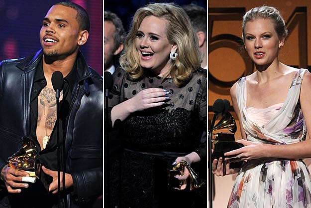 Chris Brown Adele Taylor Swift