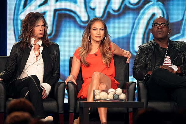 Steven Tyler Jennifer Lopez Randy Jackson