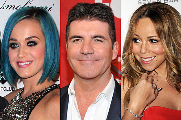 Katy Perry, Simon Cowell, Mariah Carey