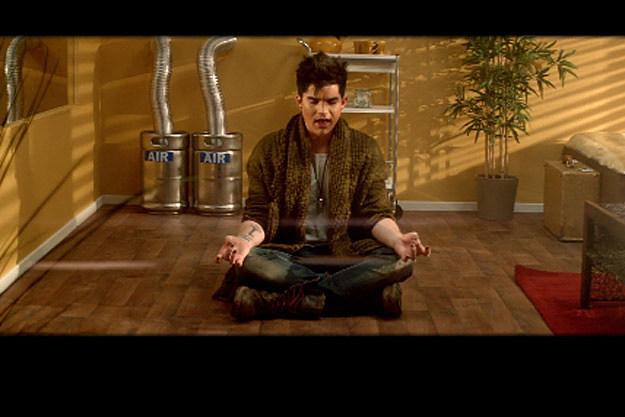 Adam Lambert Meditates