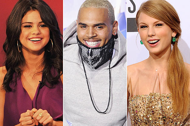 Selena Gomez Chris Brown Taylor Swift