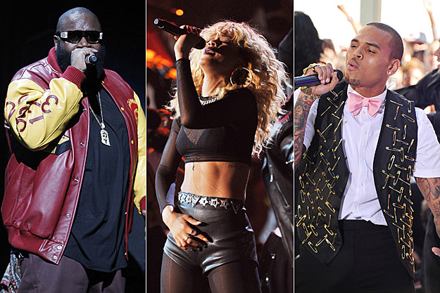 Rick Ross, Rihanna, Chris Brown