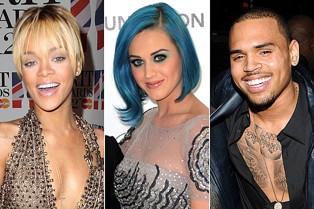 Rihanna Katy Perry Chris Brown