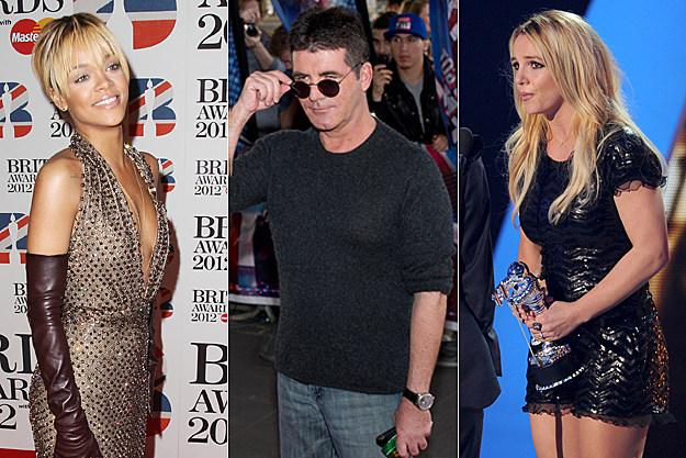 Rihanna, Simon Cowell, Britney Spears