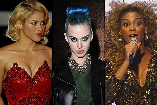 Shakira, Katy Perry, Beyonce
