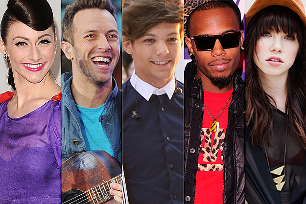 Karmin Coldplay One Direction BoB Carly Rae Jepsen