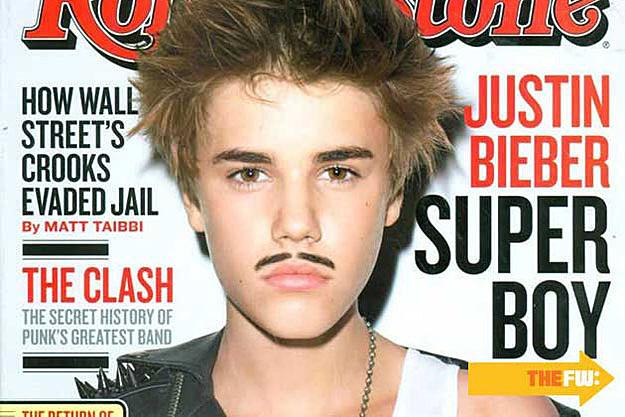 Justin Bieber Mustache Eyebrows