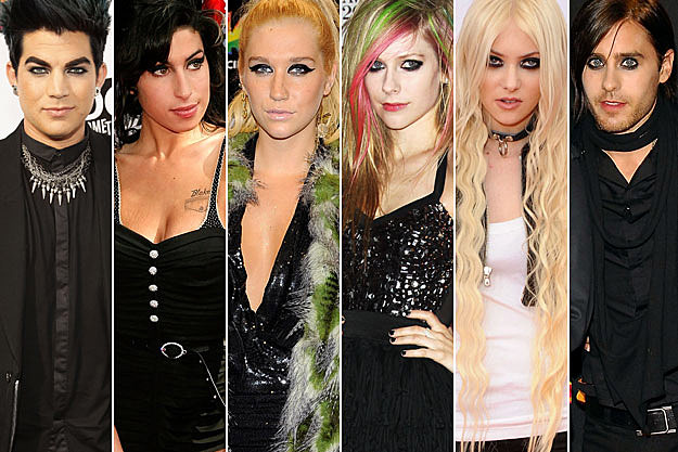 Adam Lambert Amy Winehouse Kesha Avril Lavigne Taylor Momsen Jared Leto