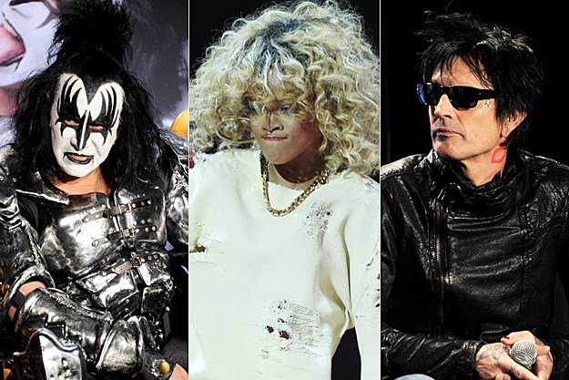 Gene Simmons, Rihanna, Tommy Lee