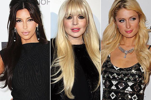 Kim Kardashian Lindsay Lohan Paris Hilton