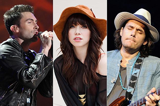 Adam Levine, Carly Rae Jepsen, John Mayer