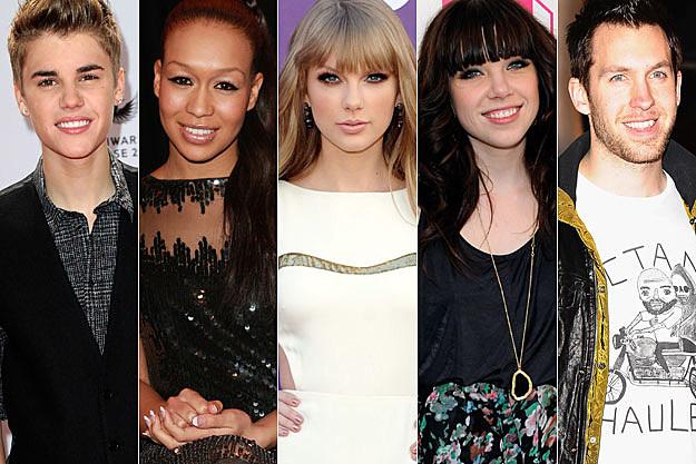 Justin Bieber Rebecca Ferguson Taylor Swift Carly Rae Jepsen Calvin Harris