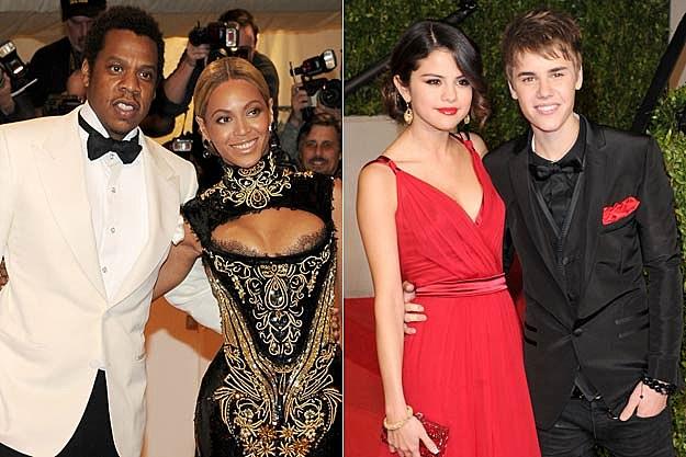 Jay-Z Beyonce Selena Gomez Justin Bieber