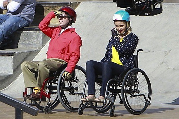 glee quinn wheelchair