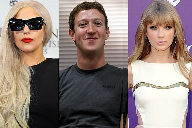Lady Gaga, Mark Zuckerberg, Taylor Swift
