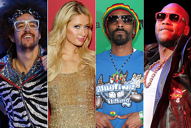 LMFAO Paris Hilton Snoop Dogg Flo Rida