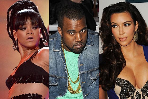 Rihanna, Kanye West, Kim Kardashian