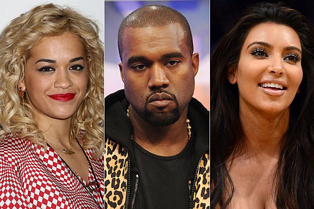 Rita Ora, Kanye West, Kim Kardashian