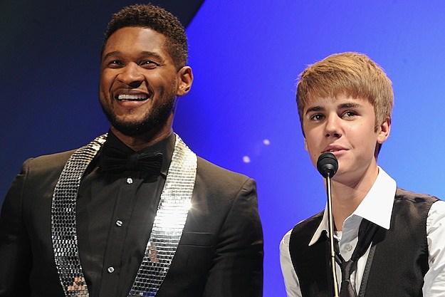 Usher Justin Bieber