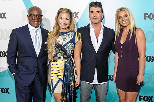 L.A. Reid Demi Lovato Simon Cowell Britney Spears