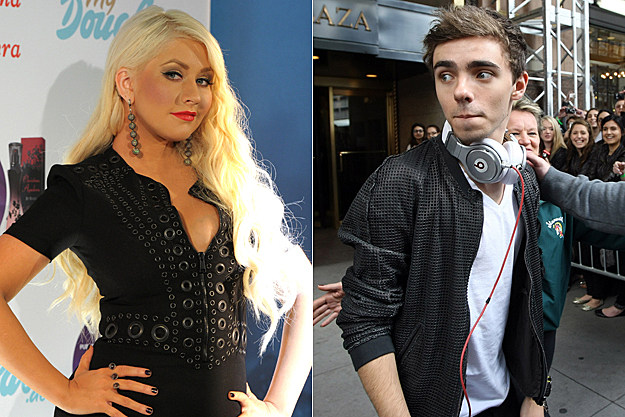 Christina Aguilera, Nathan Sykes of the Wanted