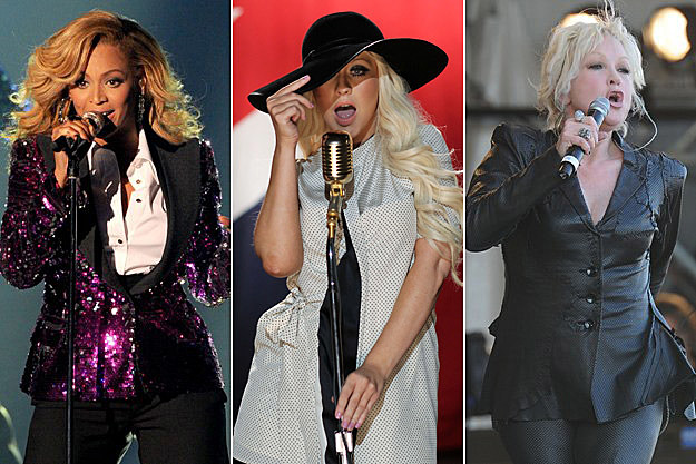 Beyonce Christina Aguilera Cyndi Lauper