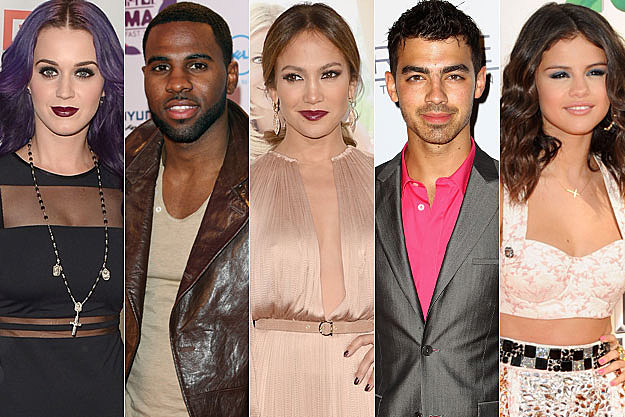 Katy Perry Jason Derulo Jennifer Lopez Joe Jonas Selena Gomez