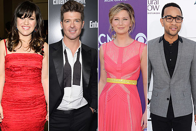 Kelly Clarkson Robin Thicke Jennifer Nettles John Legend