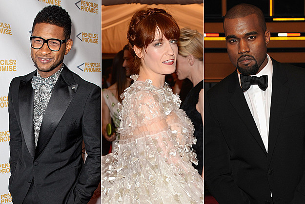 Usher Florence Welch Kanye West
