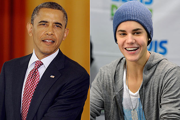 Barack Obama Justin Bieber