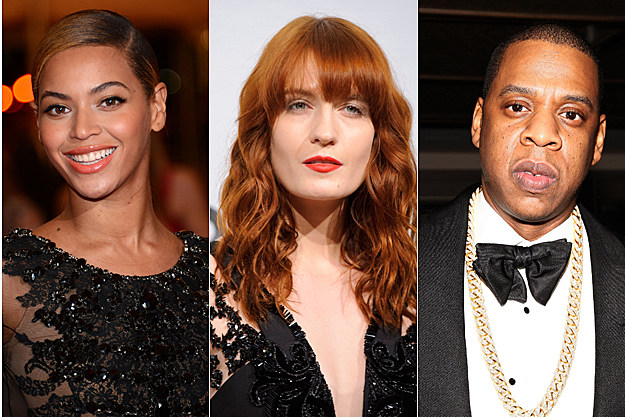 Beyonce, Florence Welch, Jay-Z