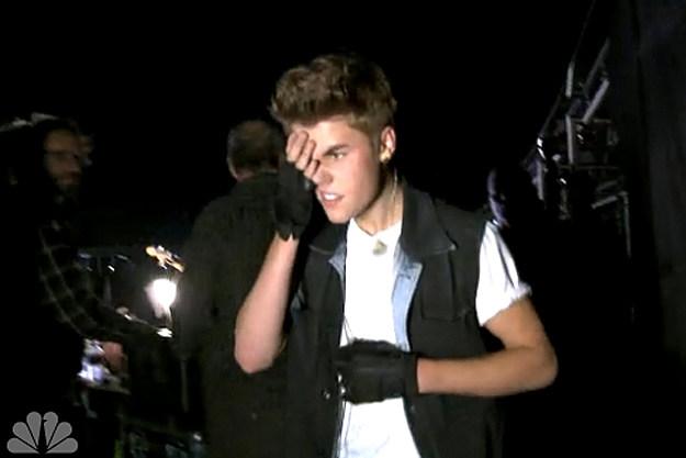 Justin Bieber Hit Head