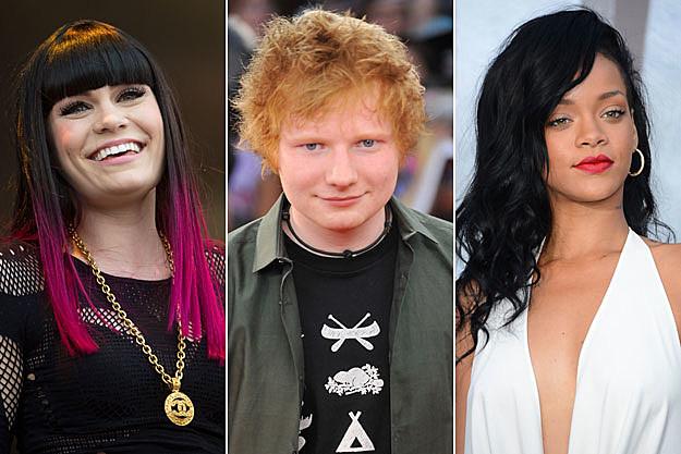 Jessie J Ed Sheeran Rihanna