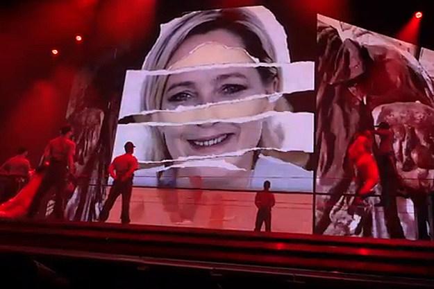 Madonna Marine Le Pen