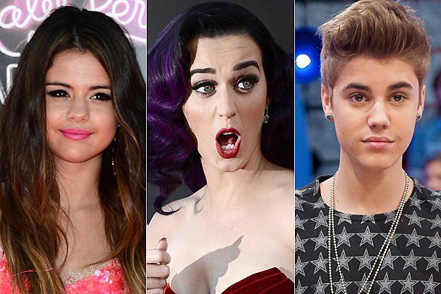 Selena Gomez Katy Perry Justin Bieber