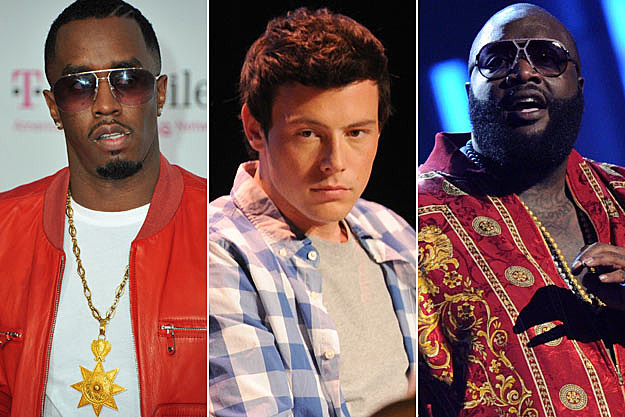 Diddy Cory Monteith Rick Ross